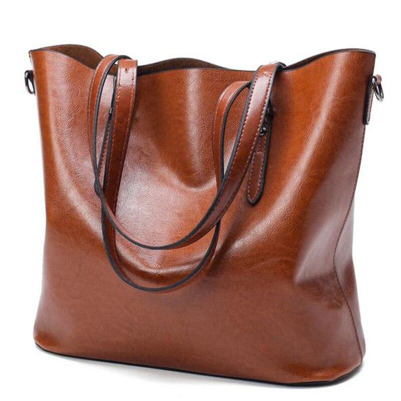 Sac Women Handbag PU Oil Wax Leather Women Bag Large Capacity Tote Bag Big Ladies Shoulder Bags Famous Brand Bolsas Feminina