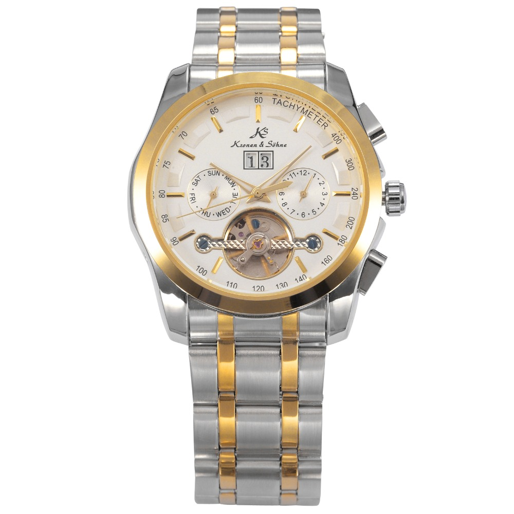 KS NAVIGATOR Series Self Wind Tourbillon Day Month Date Display Golden Hands Bezel Luxury Wristwatch Men Mechanical Watch /KS190 игрушка развивающая little tikes морская звезда page 5