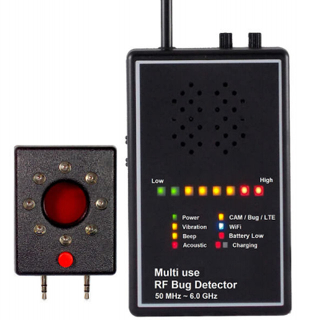 multi use rf bug detector with acoustic display camera lens findermulti use rf bug detector with acoustic display camera lens finder superhighly sensitivety wireless signal detector anti candid