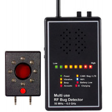 Multi Use RF Bug Detector with Acoustic display Lens Finder Superhighly sensitively Wireless Signal Detector Exposing Camera Len
