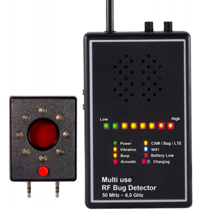 Multi Use RF Bug Detector with Acoustic display Camera Lens Finder Superhighly sensitivety Wireless Signal Detector Anti-candid ...