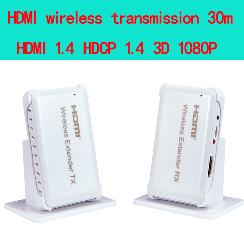 HDMI Wireless transmission Extender 30m/98ft,Support HDMI 1.4 HDCP 1.4 3d 1080P Compatible with all HDMI HD devices