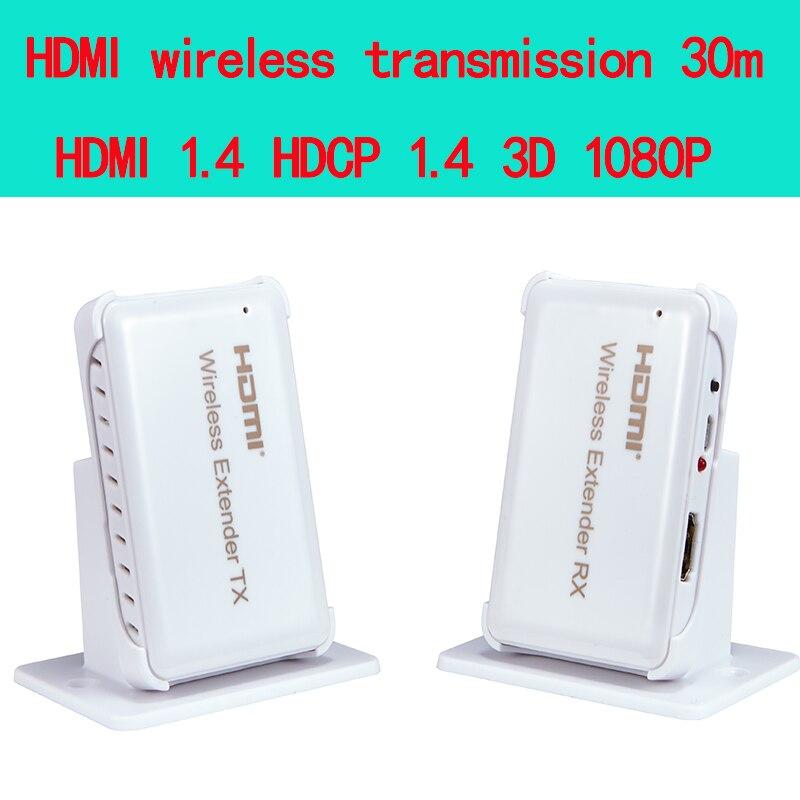 Prix pour HDMI Sans Fil transmission Extender 30 m/98ft, Soutien HDMI 1.4 HDCP 1.4 3d 1080 P Compatible avec tous les HDMI HD appareils
