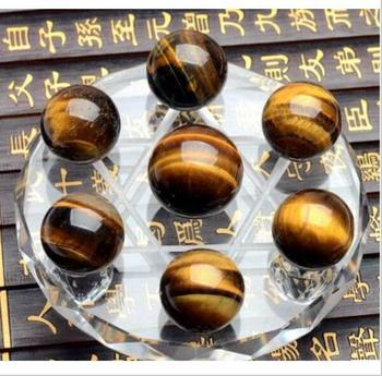 Pure Natural Crystal Super Energy Transfer Tiger's Eye Dipper Office Furnishing Articles Furnishing Articles 10cmstand