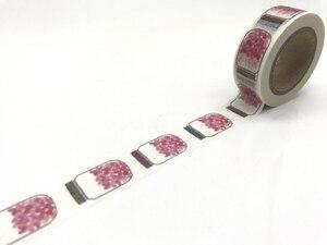 Image 5 - 2291 ใหม่รูปแบบJiataihe Washiเทปการพิมพ์ที่มีสีสันกาวเทปWashiyเทปกาวข้าวญี่ปุ่นเทปขายส่ง 45 ชิ้น/ล็อต