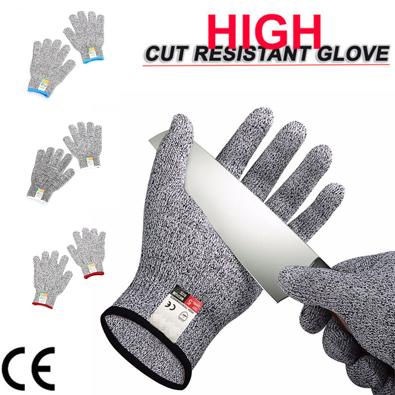 Anti-Cut Gloves Safety Cut Proof Stab Resistant Gloves Hand Protection Fabrication Safety Supplies Durable 1 Pair HPPE 1pair lot anti cut gloves cotton yarn safety cut resistant glove anti stab plastic non slip protection gloves durable gst020