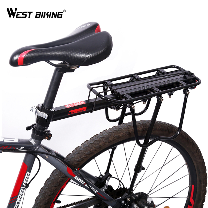 WEST BIKING Bicycle Cargo Racks Upgraded Version MTB Beach Road Bike Luggage Rack Reflective Logo Cycling