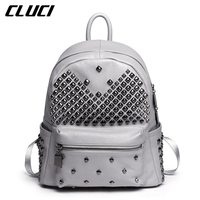CLUCI Women S Backpacks Daypacks For Girls Fashion Real Cow Leather Black Pink Grey School Backpack