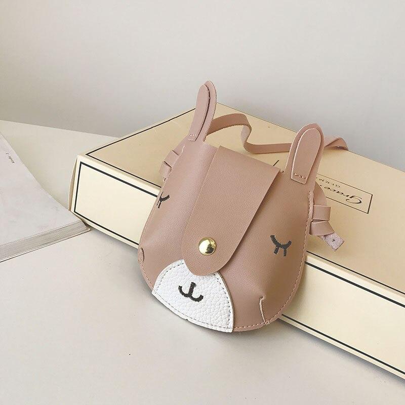 PU leather cute deer children coin purse small wallet travel cross-body bag money pouch carteira for kindergarten girls boys