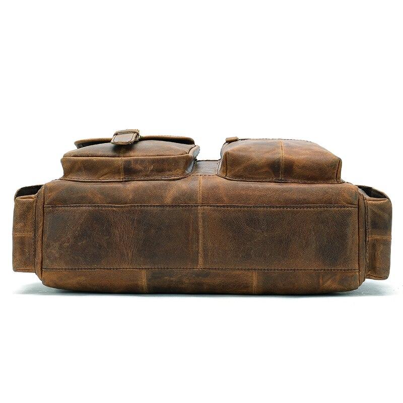 WESTAL en cuir véritable messenger sac hommes sac à bandoulière décontracté homme porte-documents ordinateur portable sacs à main ordinateur en cuir sacs pour documents - 4