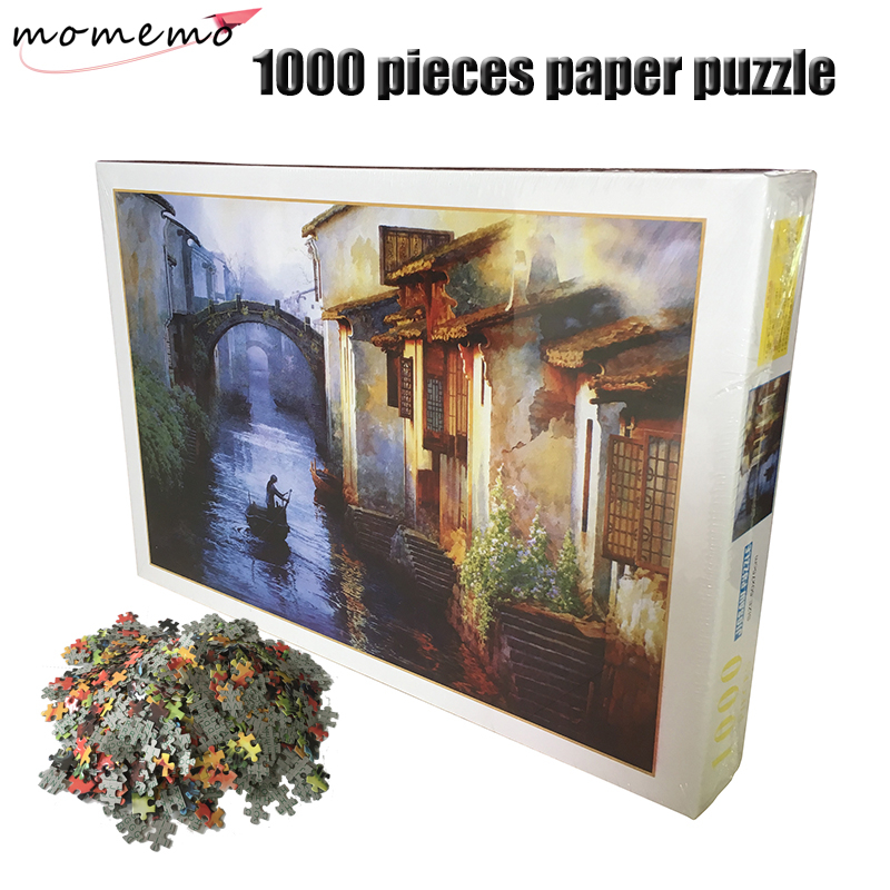 MOMEMO Jigsaw Puzzle Chinese Painting Series 1000 Pieces Paper Puzzle Adults Puzzle Children's Educational Toys With Box Packing