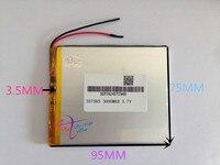Wholesale 10 Pcs 3 7V 3000mah 357595 Polymer Lithium Li Po Rechargeable Battery For MP5 GPS
