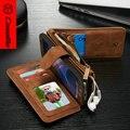 S7 S7edge Case CaseMe Натуральная Кожа Для Samsung Galaxy S6 S6edge S6edge + Съемный 2 в 1 Бумажник iphone6 6 плюс 6 s + Крышка