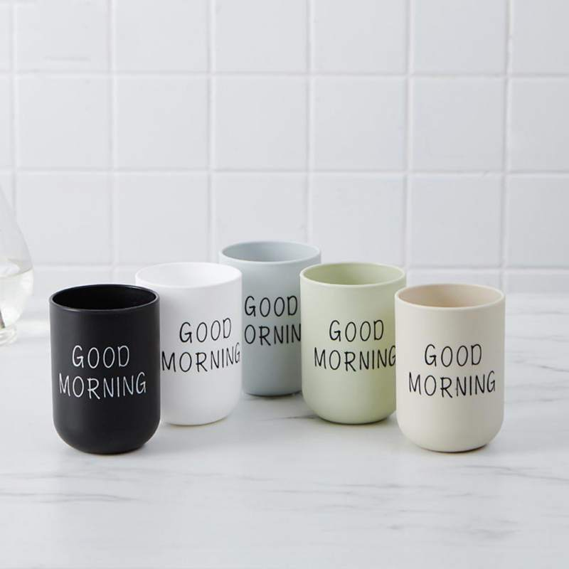 Nordic Style Plastic Bathroom Toothbrush Cup Travel Mouthwash Cup  Water Coffee Milk Simple Cups
