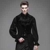 Steampunk Fashion Men's Waistcoat Sleeveless Male Palace Asymmetric Dovetail Jacket Vest