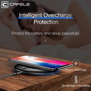 Image 4 - Cafele QC3.0 Kablosuz Şarj 10 W Qi hızlı şarjlı telefon iphone şarj cihazı 8 X XS MAX huawei Xiaomi Samsung Galaxy S9 S8 Artı s7