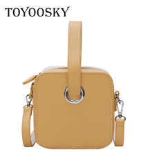 TOYOOSKY Luxury Handbags Women Bags Designer Fashion Panelled Portable Small Square Bag Casual Shoulder Crossbody
