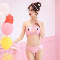 Segundo elemento Popular Cos deusa biquíni Japonês dos desenhos animados offset foto bonito oco sexy swimwear