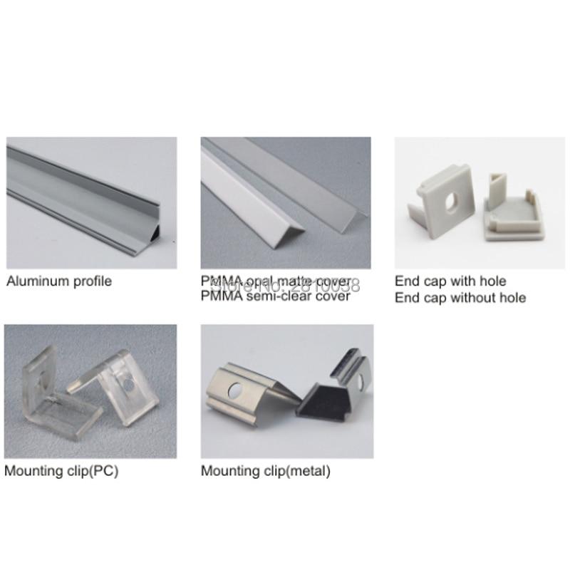10 dəst / Çox sağ bucaqlı anodlaşdırılmış gümüşü LED - LED işıqlandırma - Fotoqrafiya 2