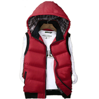 New Mens Hooded Vests Autumn Thick Warm Men S Vests Fashion Solid Male Vests Multicolor Sleeveless