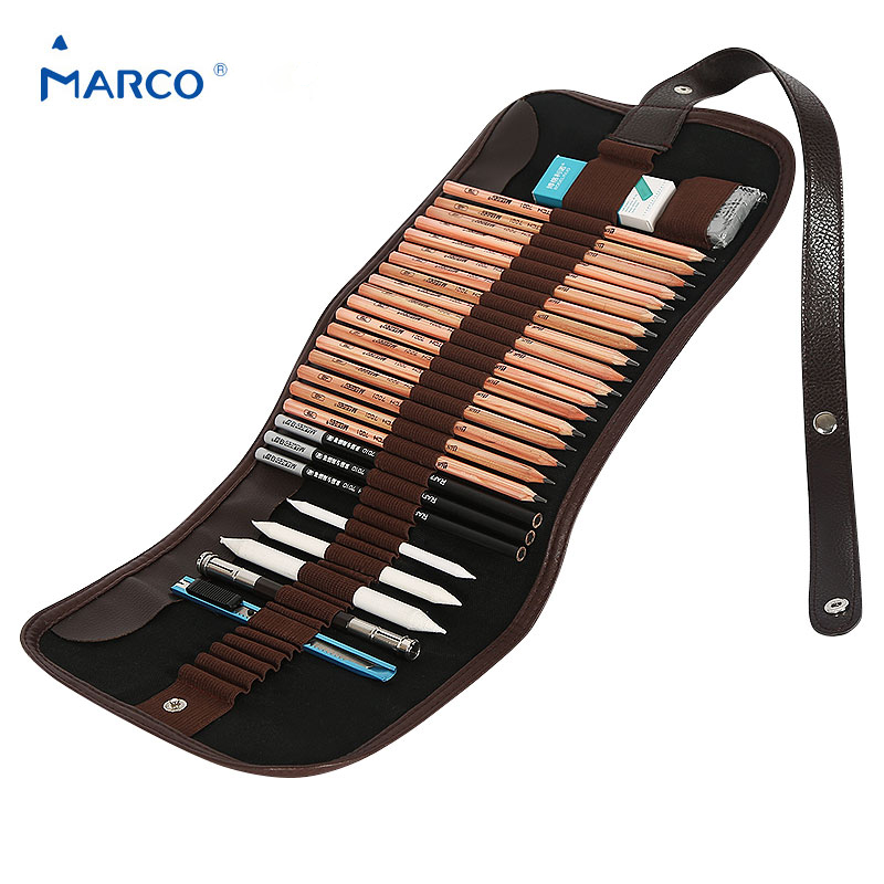 ̿̿̿(•̪ )Marco croquis lápiz, lápiz extender + borrador + lápiz + ...