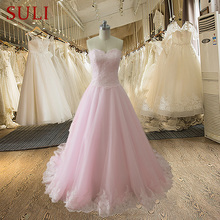 SuLi AL15 Sweetheart Applique A Line Charming Wedding Dress