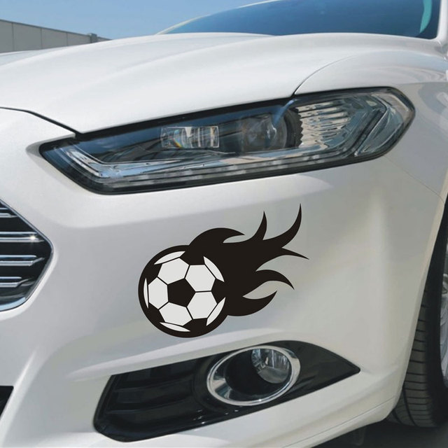Football Fire Design Car Styling Vinyl Decalscar Side Door Window - Vinyl decals car