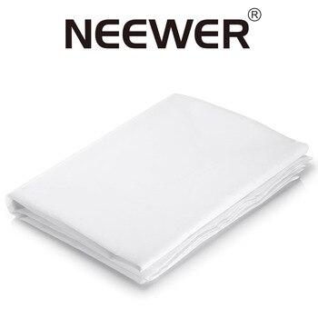 Neewer 2 Yardx60 pulgadas/1,8 M x 1,5 M Nylon seda blanco tela difusora sin costuras para fotografía Softbox luz tienda/iluminación modificador