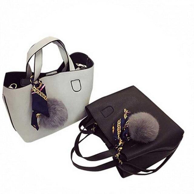 Fashion Soft PU Leather Women Handbag Two Pieces Female Shoulder Bag Girls Messenger bag Casual lady date Burgundy/Black Bag 5