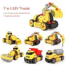 7 in 1 DIY Assembly Engineering Vehicle Model Building Blocks Compatible Legoings Column engineering car series Bricks Boys toys 7 in 1 diy assembly engineering vehicle model building blocks compatible legoings column engineering car series bricks boys toys