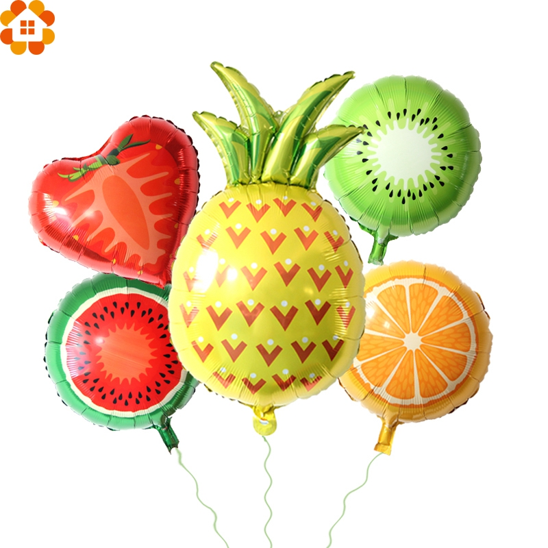 1PC Colorful Fruit  Balloons Party Balloons  Large Foil  Balloon DIY Home Decor Kids Birthday/Wedding Party Decoration Kids Toys