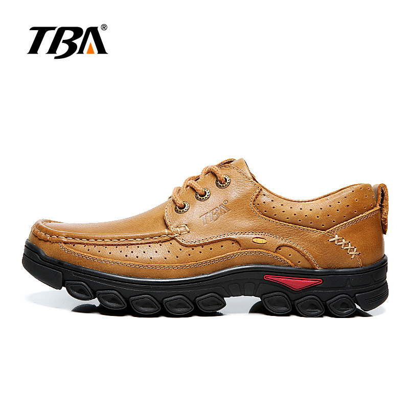 TBA Men's Mountain Shoes Hiking Outdoor Tactical Boots Men Sneakers Trekking Shoes Man Breathable Genuine Leather Men's Sneakers 2017 tba men s shoes hunting mountain shoes lace up suede leather martin boots breathable outdoor hiking shoes t5983