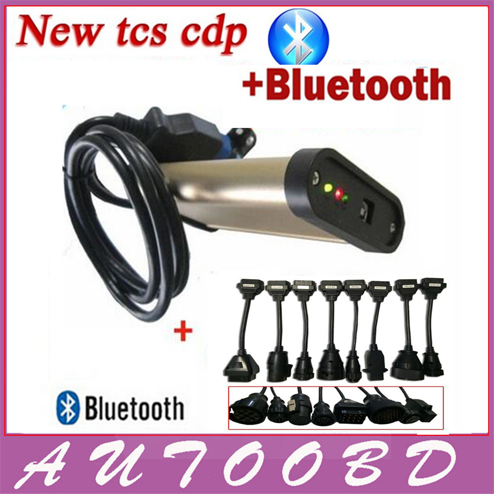 New 2013.3 Release R3 Gold TCS CDP Bluetooth with 8 Truck Cables Universal CDP Software Programmer Cars/Trucks Diagnostic Tool