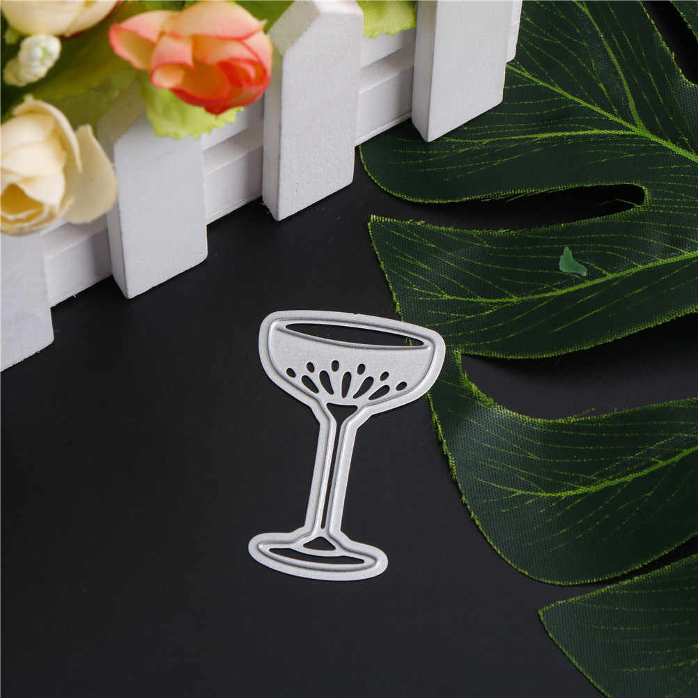 Wine Glass Cup Metal Dies Cutting Stamp Embossing Paper Card Stencil Decorate Scrapbooking Craft Die Cuts