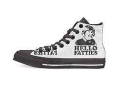 Little Britain Fat Fighters Tshirt czarne dorywczo wysokie buty płócienne trampki dla Drop shipping