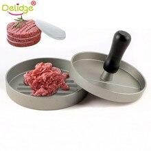 Delidge 11 см гамбургер мясо форма для выпечки, круглая гамбургер пресс алюминиевый сплав говядины гриль для жарения бургер ПРЕСС производитель плесень