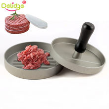 Delidge 11 cm Hamburger Meat Mold Round Shape Hamburger Press Aluminum Alloy Beef Roast Grill Burger Press Maker Mould(China)