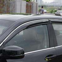 For Honda 2008 2012 8th accord Mugen Style Window Visor Vent Gard 4Pcs with Chrome Line