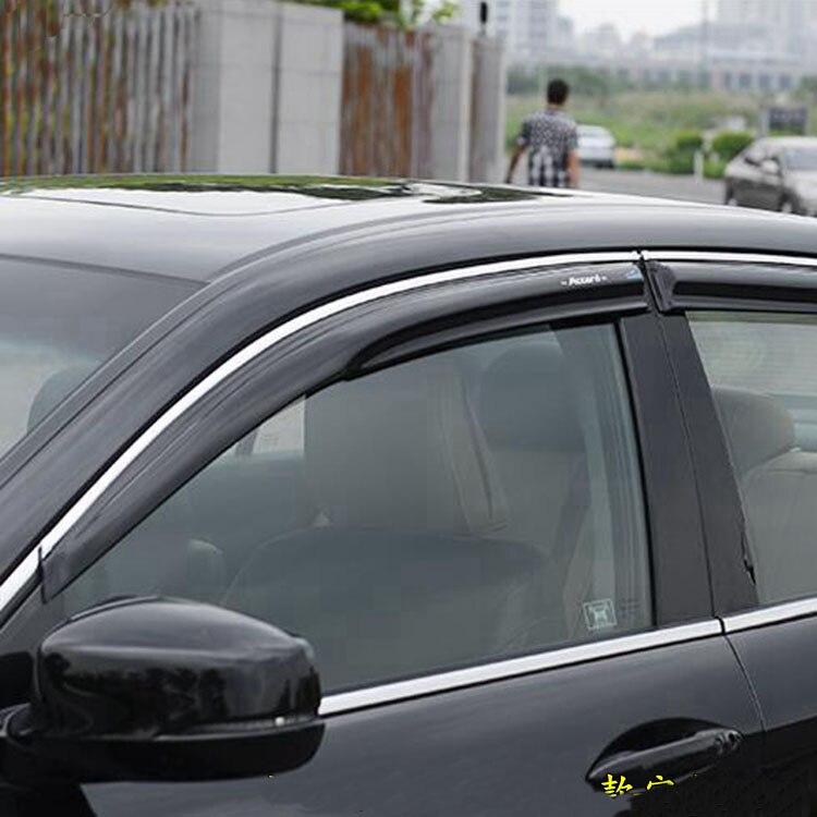 Window Visor Shade Door Weather Deflector Guard for 2003-2007 Honda Accord Sedan
