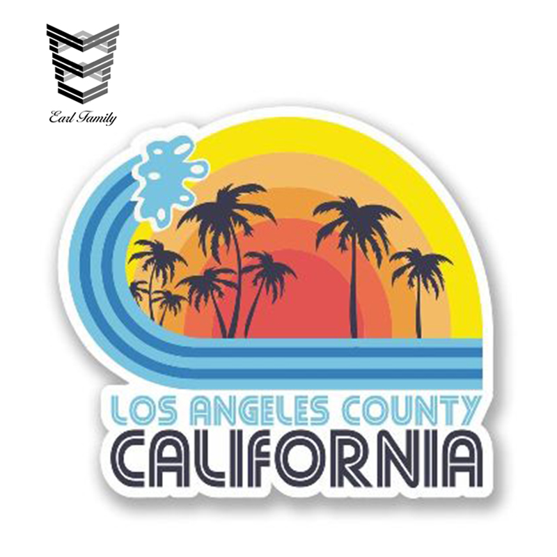 EARLFAMILY 13cm X 11cm Los Angeles California Decal Vinyl Car Sticker For Window Trunk Decoration Graphic Waterproof Car Styling