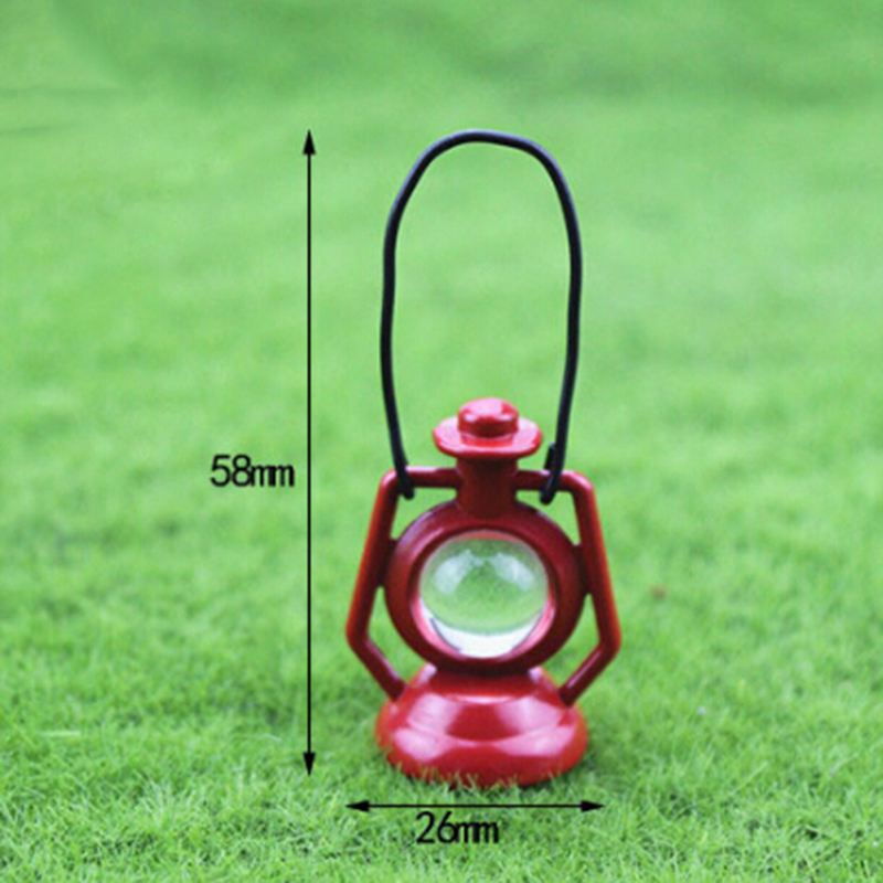 1: 12 Miniature Dollhouse Red Kerosene Oil Lamp For Blyth BJD Doll House Decoration Accessories Toys For Children