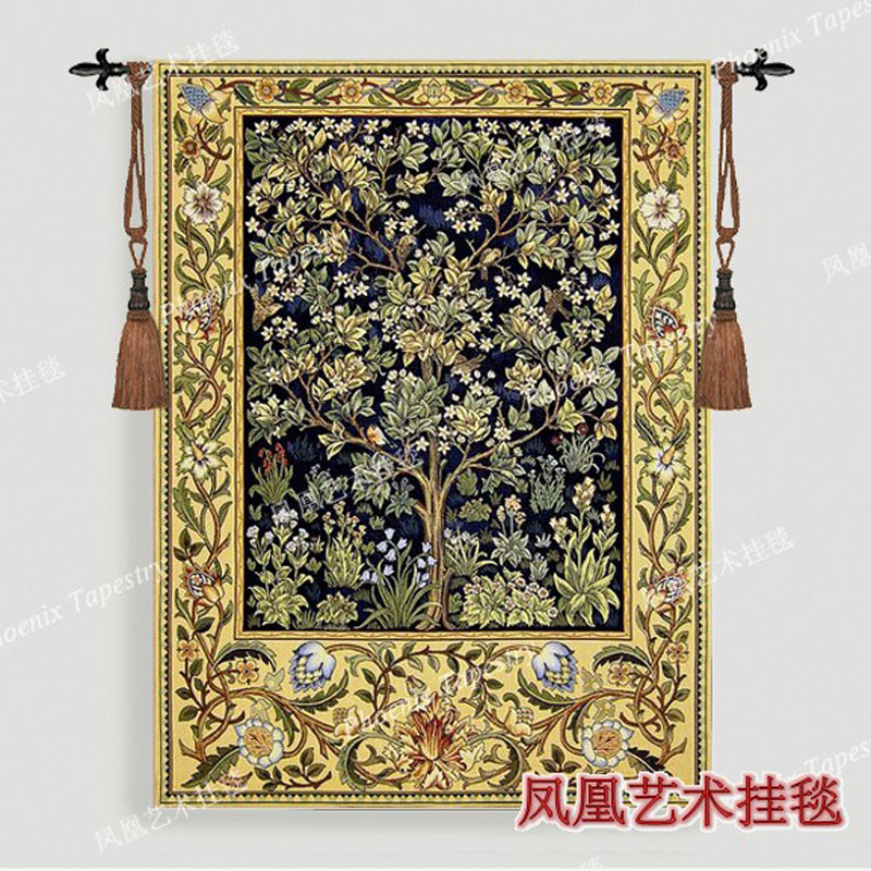 William Morris tree Blue Extra large 197X139cm Art tapestry wall hanging Home decorative textile Jacquard products