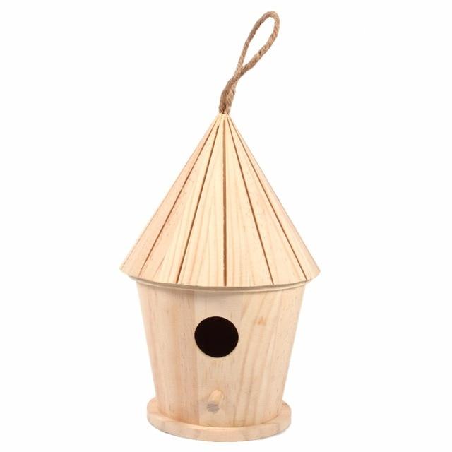 Holz Große Vogel Haus Hängen Nest Nistkasten Für Hausgarten Dekoration  Freien Dach Holz Vogelhaus