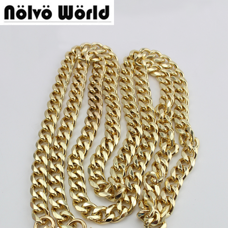 Wholesale 10 Meters 10mm 12mm Width High Thick Chain metal strap for workshop making bag handbag