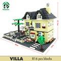 Супер Большая Вилла 816 Шт. Строительные Блоки, Совместимые с lego Кукла Дома Строительные Кирпичи Игрушки Обучения Образование