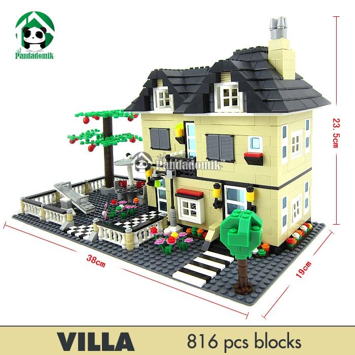 Achetez en gros wange lego en ligne des grossistes wange lego chinois ali - Jeux de construction de villa ...