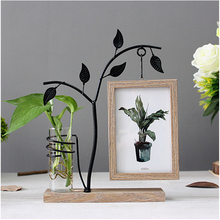 Creative Iron Art Water Culture Album 6 Inch Glass Picture Frame North European Wind Pastoral Wind Double Photo Frame Decoration
