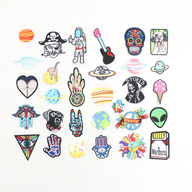 a91d1ec261fd US $0.49 |Space Universe Patch for Clothing Iron on Embroidered Sew  Applique Cute Patch Fabric Badge Garment Apparel Accessories DIYbadge-in  Patches ...