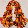 Luck Dog 2016 new arrival  Fashion Women Girl Chiffon Printed Silk Long Soft Scarf Shawl Scarf wholesale price