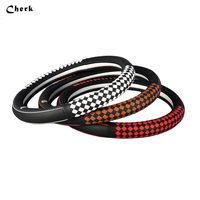 High Quality For 37CM 38CM Universal Car Steering Wheel Cover Sport Microfiber The First Layer Leather